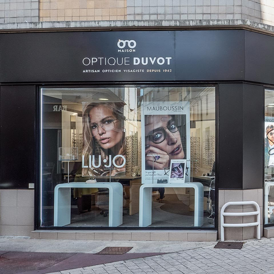 optique duvot devanture